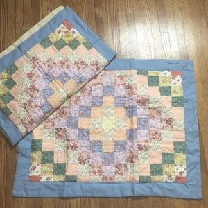 2 country quilted shams set